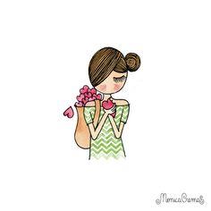 Oiii bom hoje irei mostrar ilustrações da Mônica Crema ♥ tem uma mai bonita que a outra é impossível não se apaixonar pelo lindo trabalho de...