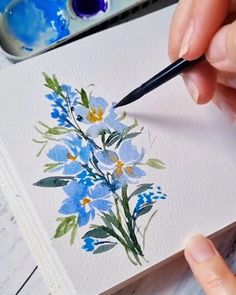 Watercolor Paintings For Beginners, Watercolor Art Lessons, Watercolor Projects, Watercolour Tutorials, Watercolour Painting, Watercolor Flowers, Watercolor Mixing, Watercolors, Flower Drawing Tutorials