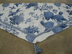 New Waverly Williamsburg Lightfoot House Porcelain Ascot Valance Blue/WH floral #Waverly #Colonial  Buy it Now on Ebay. Listing (301358515812)