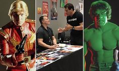 """Fans #separate """"#FLASH #GORDON"""" and """"HULK"""" during Comic Con row..."""