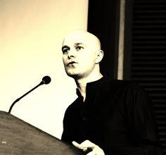 Festival Director, Marc-Ivan O'Gorman, speaks before the launch of the Irish Film Festival of India 2013, in the India Habitat Centre, New Delhi. April 2013.