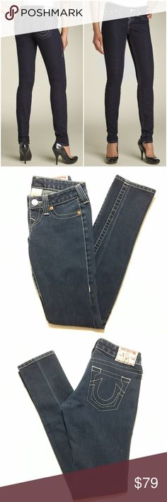 True Religion Rockstar Stella Jeans Great condition! Note: This style has no pockets. Bundle 3+ from me and save 15%, only pay shipping once, and get a free gift! True Religion Jeans