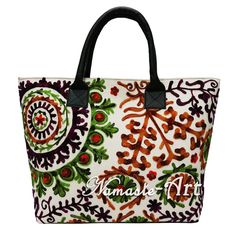 Indian Cotton Suzani Tote Shoulder Embroidery & Handbag Woman Beach Boho Bag 002 #Unbranded #TotesShoppers
