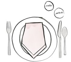 A Table Setting Cheat Sheet: For Casual Dining #IvankaTrump