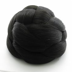 Clip in Dome Braided Bun - Black