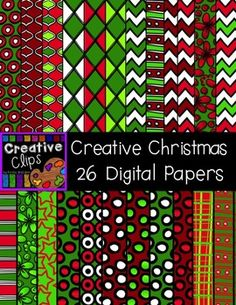 Creative Christmas Papers {Creative Clips Digital Clipart}