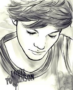 Louis Tomlinson of One Direction One Direction Fan Art, One Direction Drawings, Direction Quotes, Louis Tomlinson, Cartoon Drawings, Pencil Drawings, Different Kinds Of Art, Sketching Tips, Cool Sketches