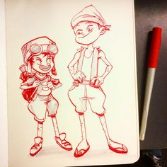 #inktober day 2 - Brothers.#sketch #sketchbook #illustration #charcter #characterdesign