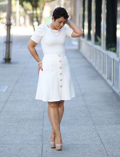MY WINTER WHITE DIY SKIRT AND TOP - Mimi G Style