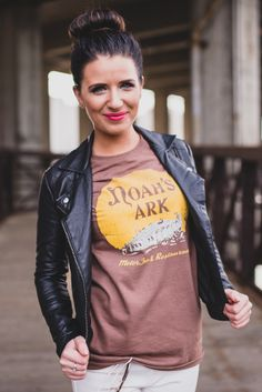 I wish it came with an orange giraffe swizzle stick!  Noah's Ark T-shirt $18 http://www.bygonebrand.com/noahs-ark-t-shirt/ #OrderingNow