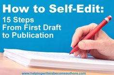 I Self-Edit My Novels: 15 Steps From First Draft to Publication A top-to-bottom editing process: from first draft to publication.A top-to-bottom editing process: from first draft to publication. Writing Quotes, Writing Advice, Writing Resources, Writing Help, Writing Skills, Writing A Book, Writing Ideas, Writing Services, Editing Writing