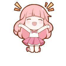 yaaaaaayyy it's Thursday Kawaii Anime, Cute Anime Chibi, Kawaii Chibi, Kawaii Art, Anime Stickers, Cute Stickers, Kawaii Drawings, Cute Drawings, Manga Anime
