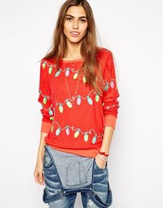 Buy Wildfox Christmas Lights Sweater at ASOS. Get the latest trends with ASOS now. Green Shirt, Ugly Christmas Sweater, Wildfox, Christmas Lights, Latest Trends, Asos, Graphic Sweatshirt, Holidays, Sweatshirts