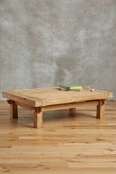 Anthropologie Wide Plank Coffee Table