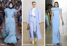 Spring/ Summer 2019 Color Trends: Pastel Blue Spring Fashion Trends, Fashion 2018 Trends, Spring Summer Fashion, Fashion Styles, Fashion Online, Women's Fashion, Pastel Blue, Spring Sandals, Spring Party
