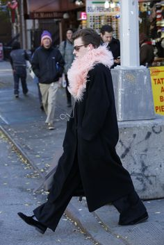 On the street in New York. [Photo by John Aquino]