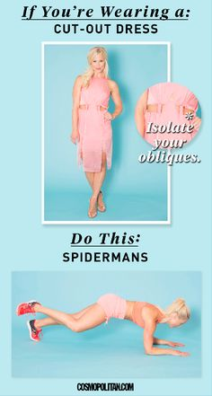 Peekaboo dresses conceal little to nothing by design. To bare your belly with pride, define your abs and obliques with Spidermans.