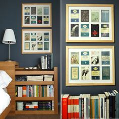 cute way to display vintage postcards