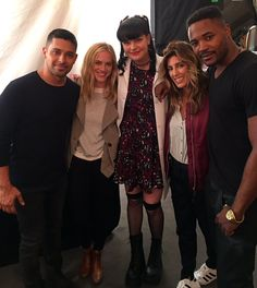 """At NCIS today with Wilmer Valderrama, Emily Wickersham, Jennifer Esposito, and Duane Henry. Cutie pies!"" ~ Pauley Perrette"