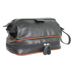 Carlucci Premier Leather Toiletry Bag with Zip Drop Bottom >>> Check this awesome image  : Travel accessories