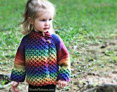 Crocodile stitch #crochet kids' coat pattern from @bonitapatterns