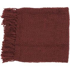 Surya Tobias Throw Blanket Color: Burgundy (3.525 RUB) ❤ liked on Polyvore featuring home, bed & bath, bedding, blankets, fillers, accessories, scarves, surya throws, maroon throw blanket and burgundy blanket