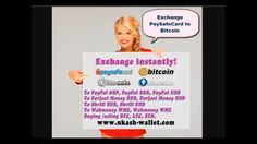 Paysafecard vouchers and Bitcoin / Litecoin / Ethereum exchange instantly: http://ukash-wallet.com/ We accept pre-paid vouchers of Paysafecard for an exchange to digital currencies of payment systems PayPal, Perfect Money, Skrill, Webmoney and cryptocurrency Bitcoin, Litecoin. On our website you can convert the Paysafecard codes on electronic money at any time. We sell digital currency with Paysafecard 24 hours a day, 7 days a week. We accept Paysafecard from the following countries: United…