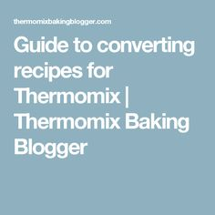 This helpful guide to converting recipes for Thermomix really help you understanding how your favourite baking recipes work with the Thermi. Cantaloupe Recipes, Radish Recipes, Baking Recipes, Vegan Recipes, Savoury Recipes, Yummy Recipes, Cheddarwurst Recipe, Recipe Conversions, Tips