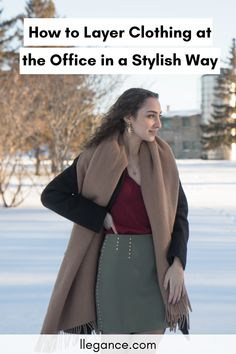 Wondering why you're always cold at the office in the wintertime? I get it! It can get really chilly sitting still at your desk all day. In this article, I've shown you how to layer clothing the right way for the wintertime. Luckily, you'll understand you won't need to compromise your style to stay warm. Click to keep reading on LLEGANCE to find out how to layer your office clothing properly so you can look stylish and stay warm in the winter. #layering #fashion #hacks #stylehacks London Fashion Bloggers, Fashion Blogs, Fashion Hacks, Fashion Outfits, Fashion Trends, Workwear Fashion, Work Fashion, Women's Fashion, Autumn Fashion