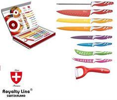 Σετ 9 Τεμαχίων Αντικολλητικά Μαχαίρια Royalty Line Switzerland τιμή 19,90€