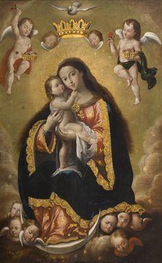 Virgin and Child // Escuela Quiteña / Quiteña School // Cathopic // #Mary #LatinAmerica