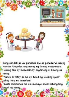Teacher Fun Files: DIY Big Book: Ang Eroplano ni Tatay Moral Stories For Kids, Short Stories For Kids, Kids Story Books, Reading Passages, Reading Comprehension, Tagalog, Picture Cards, Kindergarten Teachers, Grade 2