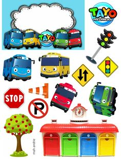 Bead Crafts, Paper Crafts, Tayo The Little Bus, Transportation Party, Cake Logo, Happy Birthday Cake Topper, Boys Playing, Mickey Mouse Birthday, Photo Booth Props