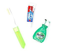 Dental Travel Kit - Crest Toothpaste - Scope - Toothbrush with Case by Dr. Fresh * Find out more details by clicking the image : Travel toiletries