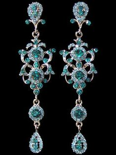 Undated antique aqua beauty bling jewelry fashion