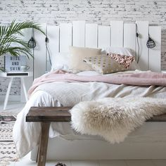 White Brick Walls Bedroom
