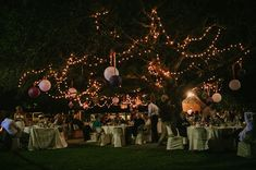 fairy lights outdoor wedding http://www.knotjustpics.co.za/