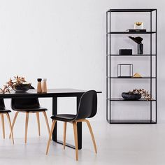 Introducing the Soho bookcase and Ultimo Dining Table from our most recent shoot. Available in our online store and Sydney showroom. #urbancouturedesigns #steelbookcase
