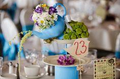 """Décoration de table de mariage inspiration """"Alice au pays des merveilles"""""""