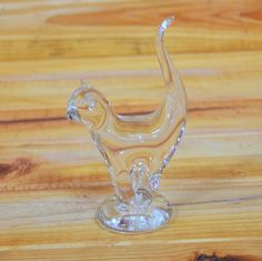 Crystal Siamese Cat Figurine Hand made in Poland by ArtMaxAntiques on Etsy