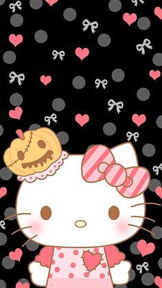 66 New Ideas Wall Paper Iphone Anime Kawaii Hello Kitty Sanrio Wallpaper, Hello Kitty Wallpaper, Cartoon Wallpaper, Iphone Wallpaper, Hello Kitty Halloween, Hello Kitty Images, Halloween Wallpaper, Cute Wallpapers, Kawaii Anime