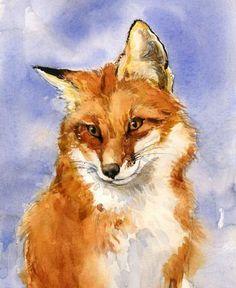 Fox by Lita Judge Fox Painting, Watercolour Painting, Painting & Drawing, Fox Drawing, Fox Illustration, Fox Art, Watercolor Animals, Animal Paintings, Art Drawings