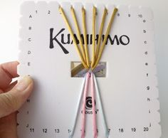 Square plate Kumihimo tutorial