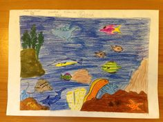 Jadhuva Shaan - Age 8 Drawing Competition, Ocean Day, Marine Conservation, Oceans Of The World, Age, Drawings, School, Painting, Painting Art