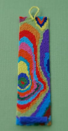 Wikipedia defines Faux Bois (from the French for false wood) as the artistic imitation of wood or wood grains in various media. It was while I was photographing a pendant, using my wooden hand as a model, that I was inspired to create the faux bois design Peyote Beading, Beaded Bracelet Patterns, Bracelet Crafts, Peyote Patterns, Loom Patterns, Beading Patterns, Beaded Bracelets, Beaded Bookmarks, Bracelet Patterns
