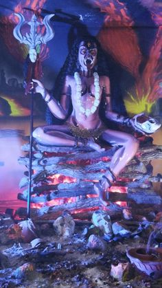 Goddess Kali Images, Kali Goddess, Mother Goddess, Shiva Parvati Images, Shiva Hindu, Indian Gods, Indian Art, Mother Kali, Durga Painting