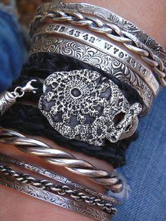 Sexy Boho Jewelry, Leather Wrap Bracelet by HappyGoLicky Jewelry #BohemianFashion