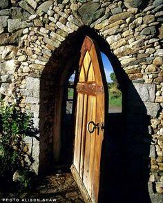 Lew French garden arch/door.