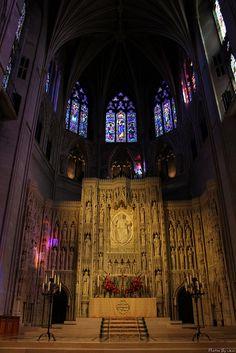 Washington National Cathedral, Washington, DC, USA. - View looking toward altar.