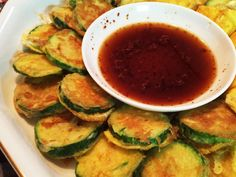 韓国料理☆ズッキーニのチヂミの画像